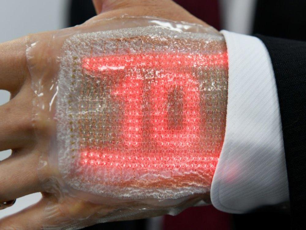 Japonés inventa una pantalla de LED comparable a una segunda piel