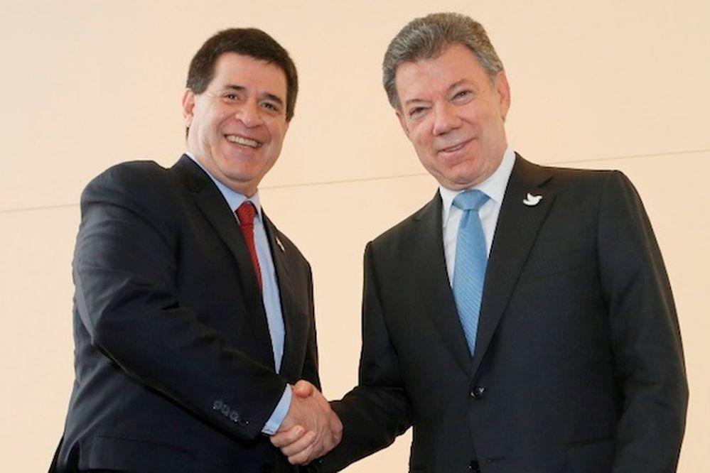 Presidente colombiano llega a Paraguay el domingo